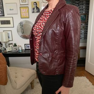 vintage oxblood jacket in great condition